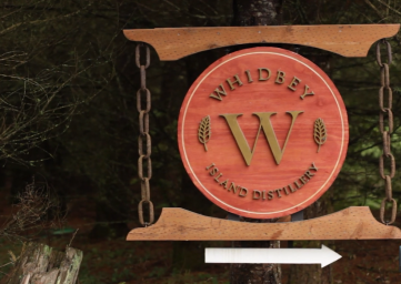 Whidbey Island Distillery sign