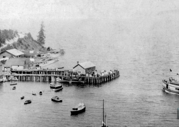 old photograph of Whidbey Island ferries