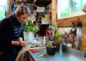 Tobey Nelson floral artist on Whidbey Island WhidbeyTV